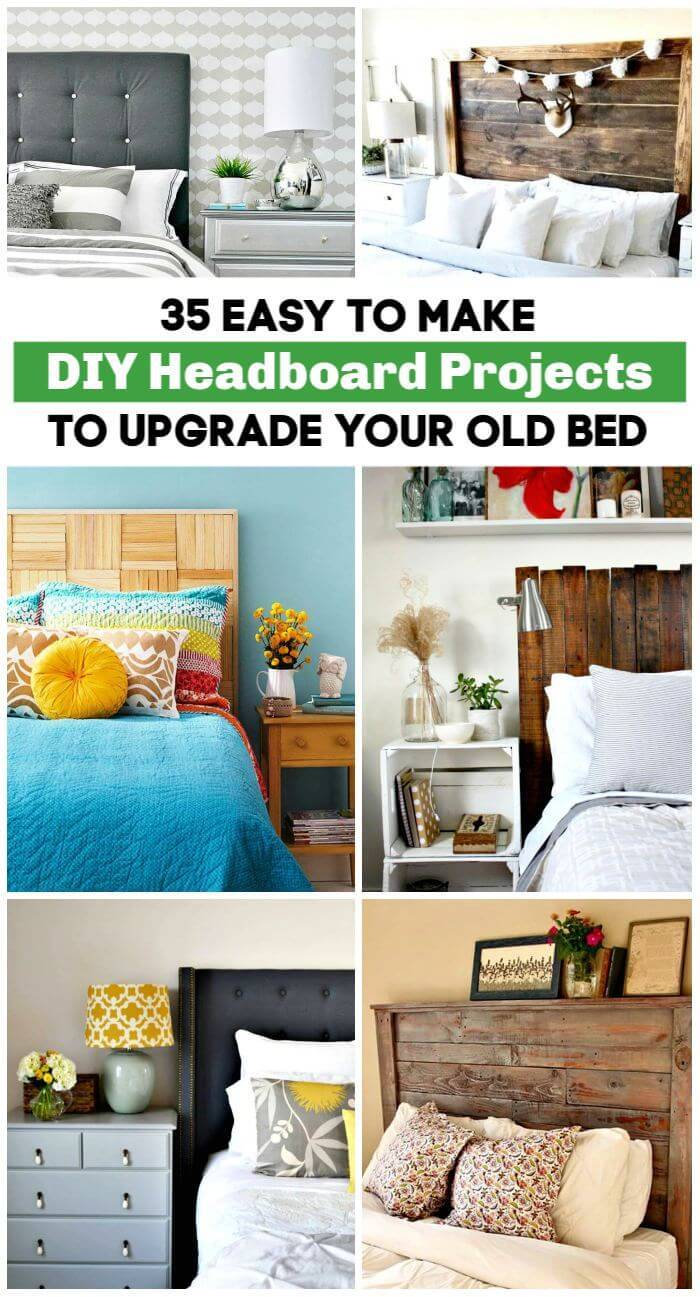 35 Easy To Make DIY Headboard Projects to Upgrade Your Old Bed, DIY Headboards, DIY Projects, DIY Furniture, DIY Crafts