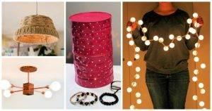 36 Best DIY Indoor Lighting Ideas, DIY Home Decor Ideas, easy craft ideas, DIY crafts, DIY Home Decor Projects