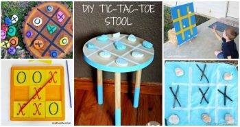 40 DIY Tic Tac Toe Game Projects You should Try Out Now, diy giant tic tac toe, easy craft ideas, DIY crafts