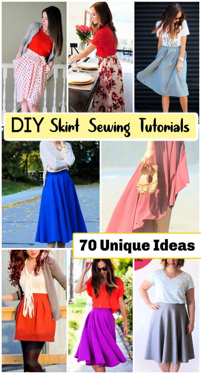 70 DIY Skirt Sewing Tutorials, DIY Spring and Summer Outfits, DIY Outfit Ideas for Summer, DIY Outfit Ideas, DIY Fashion Crafts, DIY Crafts