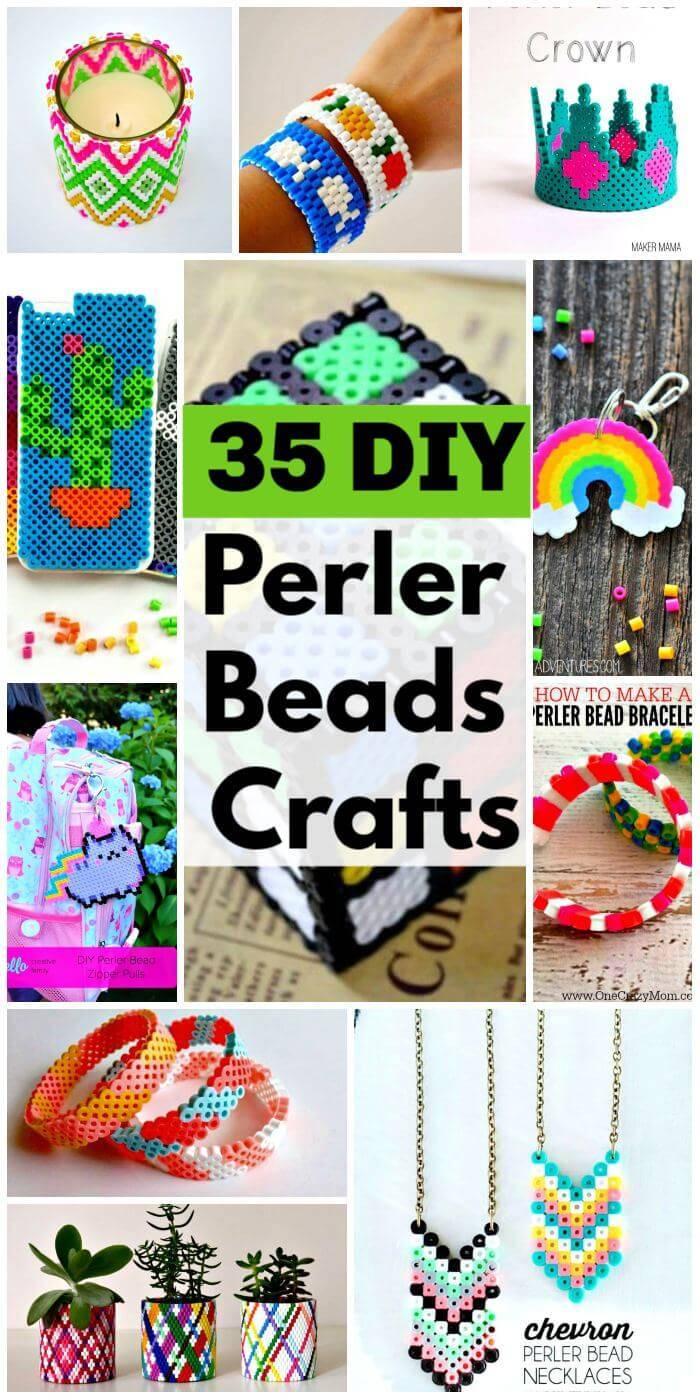 DIY Perler Beads Crafts, 35 Easy Perler Bead Ideas, DIY Crafts, Easy Craft Ideas