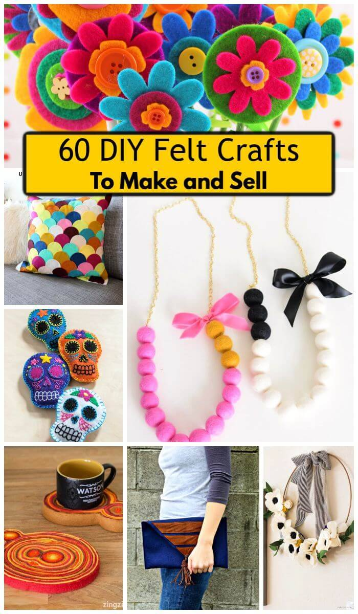 Top 60 Diy Felt Crafts To Make And Sell Diy Crafts