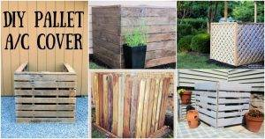11 DIY Air Conditioner Cover Ideas, DIY Pallet AC Cover, diy air conditioner screen Plans, DIY Projects, DIY Crafts