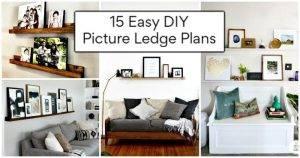 15 Easy DIY Picture Ledge Plans, DIY Photo Ledge Ideas, DIY Home Decor Ideas, DIY Projects