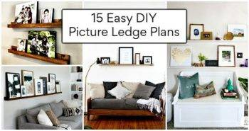 15 Easy DIY Picture Ledge Plans, DIY Photo Ledge Ideas, DIY Home Decor Ideas, DIY Projects
