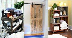 15 Pallet Projects for Bathroom, Pallet Ideas, Pallet Bathroom Shelves, Pallet Projects, DIY Home Decor Projects, DIY Crafts