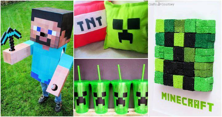 16 DIY Minecraft Ideas To Make Something Creative, DIY Crafts, DIY Crafts for Kids, Easy DIY Projects