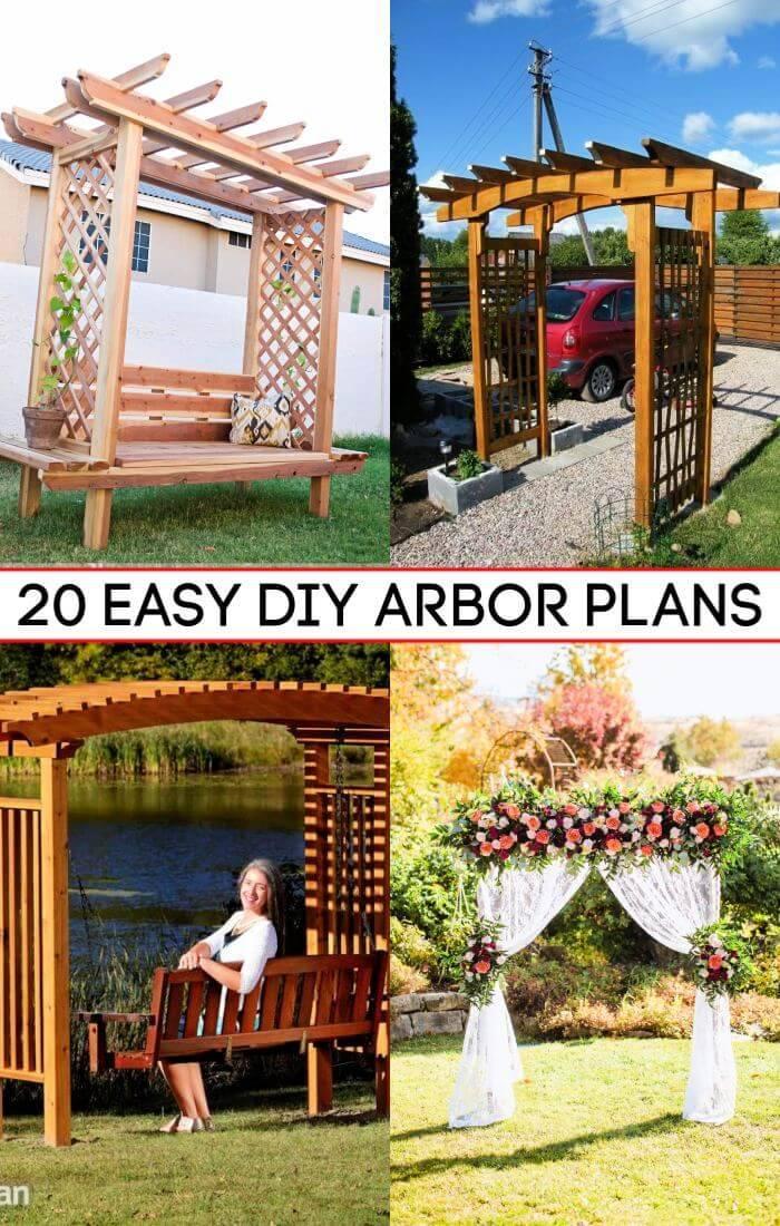20 Chic and Easy DIY Arbor Plans, DIY Arbor for Wedding, DIY Crafts, DIY Projects, DIY Wedding Ideas