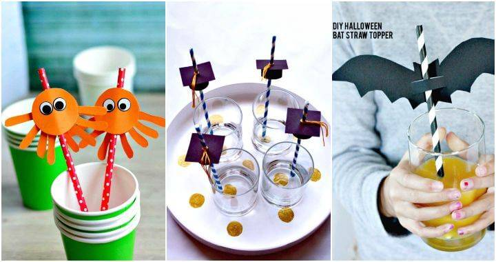 25 Easy DIY Straw Toppers Try Your Own Now