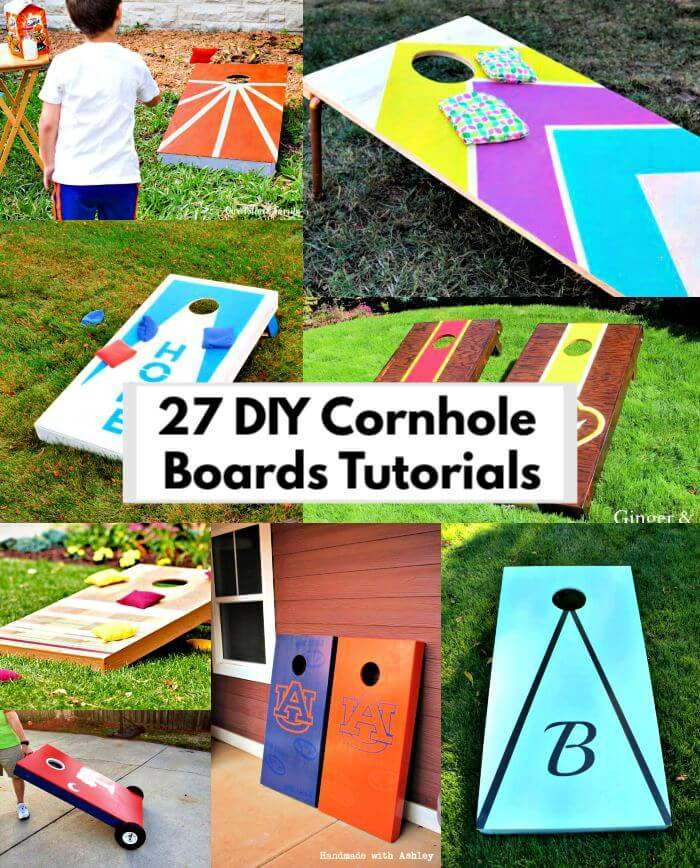 27 DIY Cornhole Boards To Build One for This Summer, DIY play games for Kids, DIY Projects, DIY Ideas