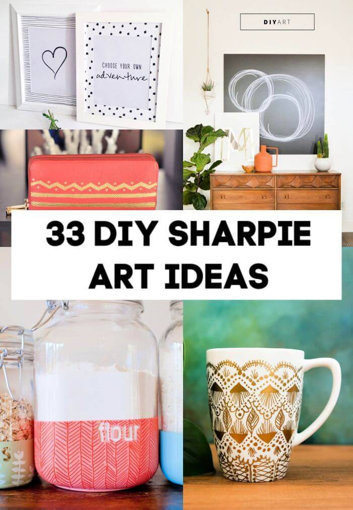 33 Creative DIY Sharpie Art Ideas, sharpie pens, sharpie markers, DIY Crafts, DIY Crafts for Kids, Easy DIY Projects