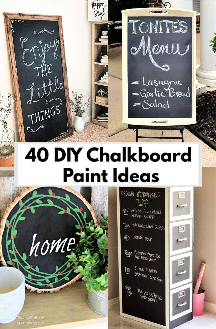 40 DIY Chalkboard Paint Ideas You Must Try These