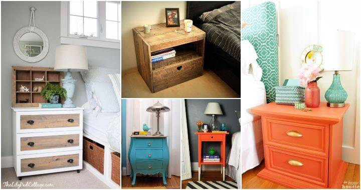 45 DIY Nightstand Plans That You Can Easily Build, DIY Bedside Table Ideas, DIY Crafts, DIY Projects, DIY Ideas