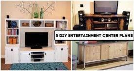 5 DIY Entertainment Center Plans You Can Make, Pallet entertainment Center, DIY Projects, DIY Crafts, DIY Home Decor Ideas