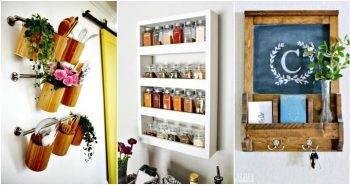 52 DIY Wall Storage & Organization Ideas for Small Spaces