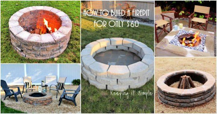 62 Fire Pit Ideas to DIY Cheap Fire Pit for Your Garden