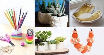 Air Dry Clay Ideas, 40 Unique DIY Air Dry Clay Ideas, DIY Crafts, DIY Crafts for Kids, Easy DIY Projects