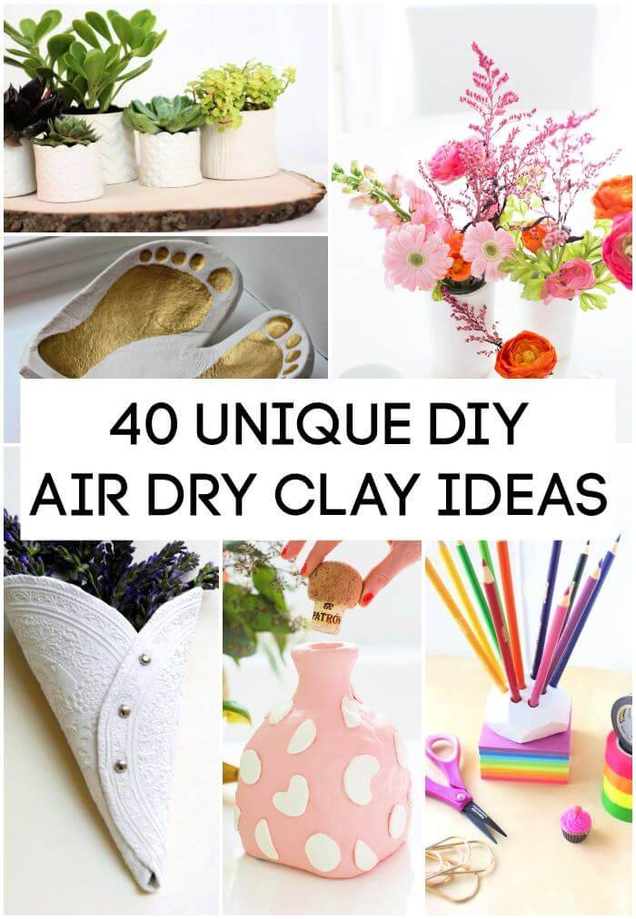 Air Dry Clay Ideas, 40 Unique DIY Air Dry Clay Ideas, DIY Crafts, DIY Crafts for Kids, Easy DIY Projects