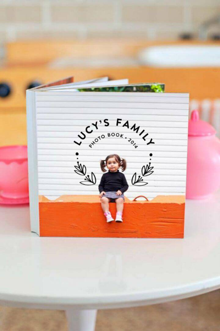 Awesome DIY Family Photo Board Book