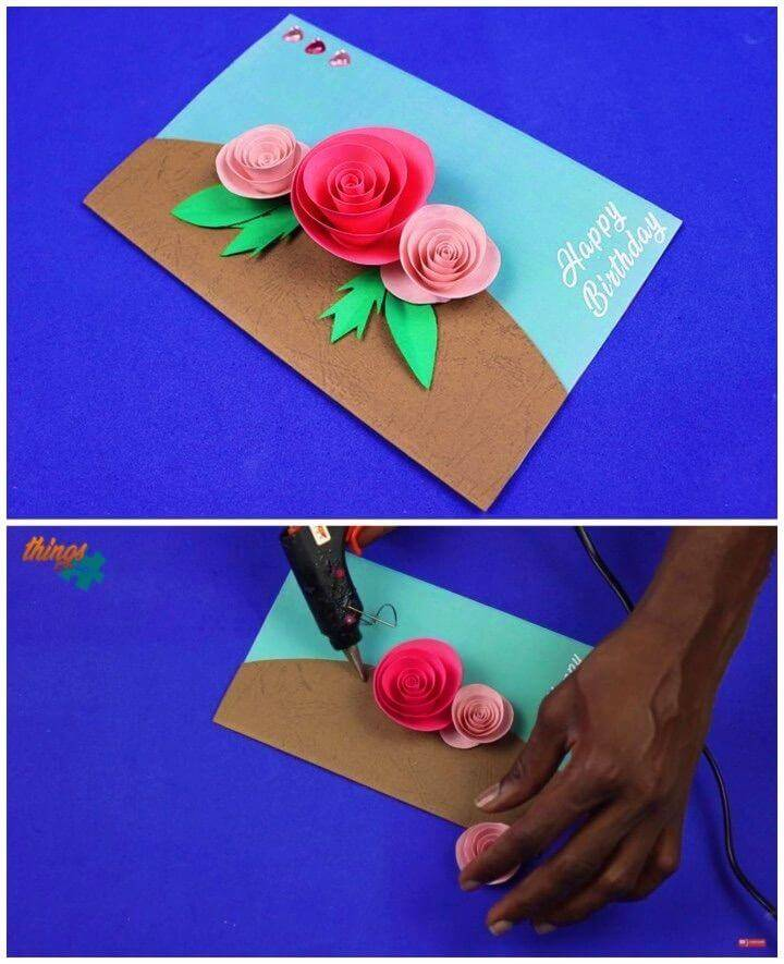 Beautiful DIY Birthday Greeting Card, handmade birthday card designs!