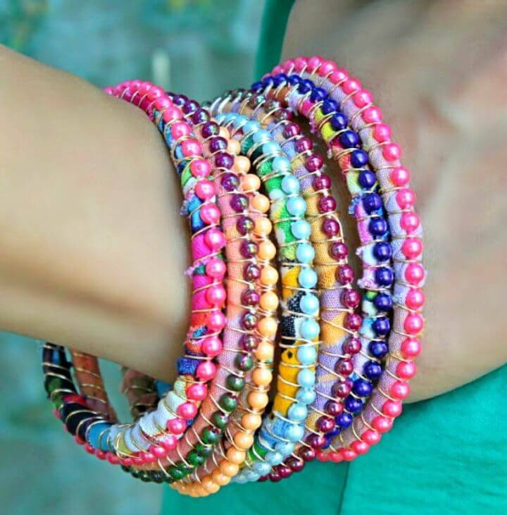 Beautiful DIY New Boho Bracelets made of colorful strung up beads