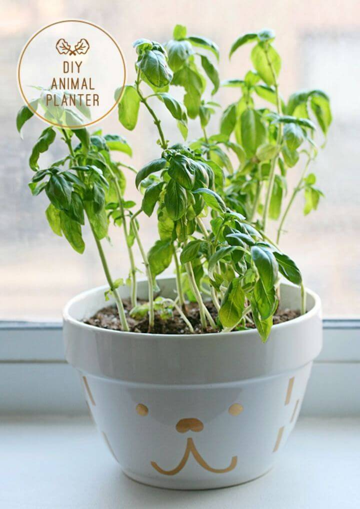 DIY Animal Planter with Contact Paper, decorate your planters for a custom look using respective contact papers, can easily be wrapped around!