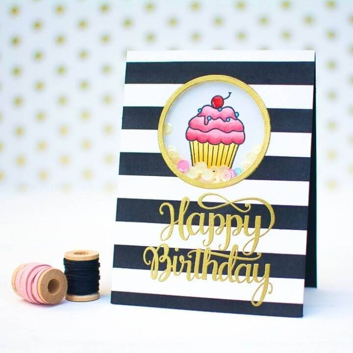 DIY Birthday Sequin Shaker Cards, DIY Birthday Card Designs