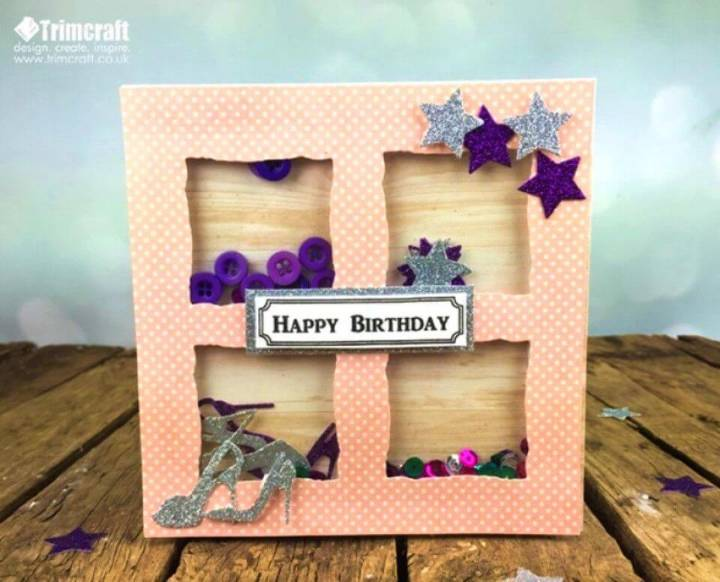 DIY Die Cut Foam Shaker Birthday Card, how to make birthday card