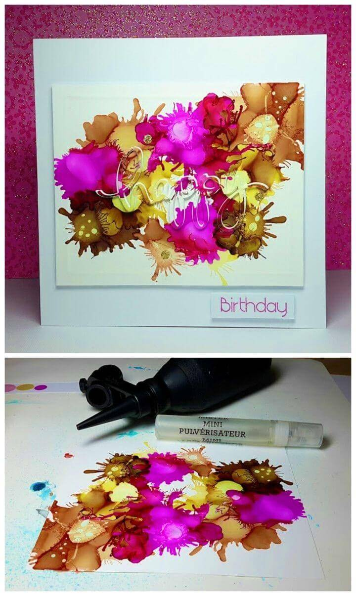 DIY Flowers Design Chart Paper Birthday Card, Handmade paper birthday card