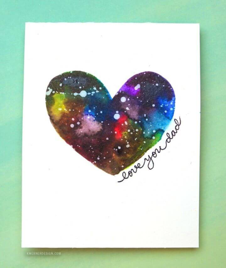 DIY Galaxy Father's Day Card, DIY how to Make romantic birthday card