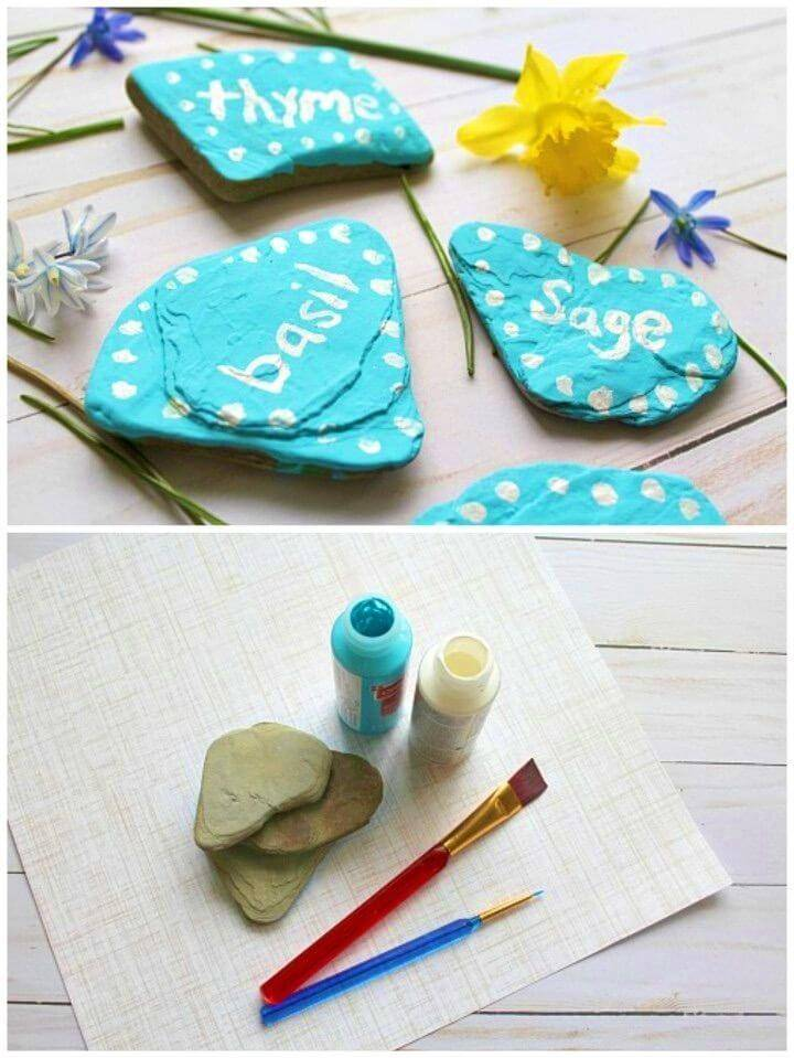 DIY Hand Painted Rock Garden Markers, painting rocks for garden