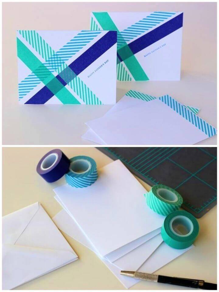 DIY Handmade Card with Washi Tape, How to make a Birthday Card