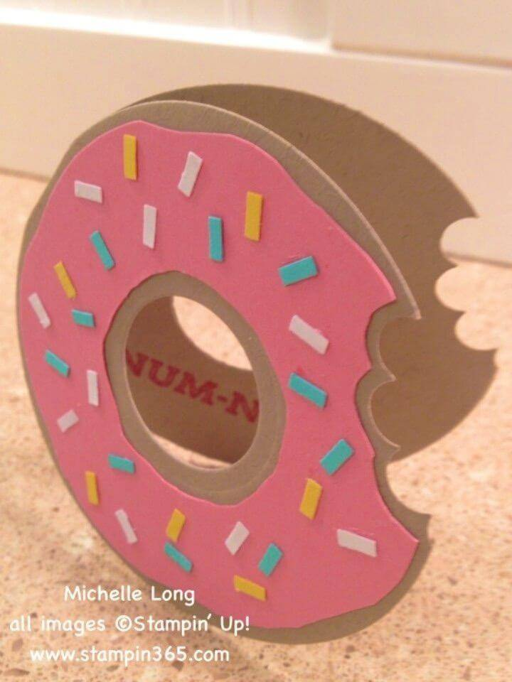 DIY Handmade Donuts Birthday Card, Unique Food Inspired Birthday Card