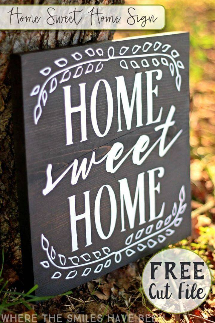 DIY Home Sweet Home Sign, show your love for your home by making this home sweet home wall sign!