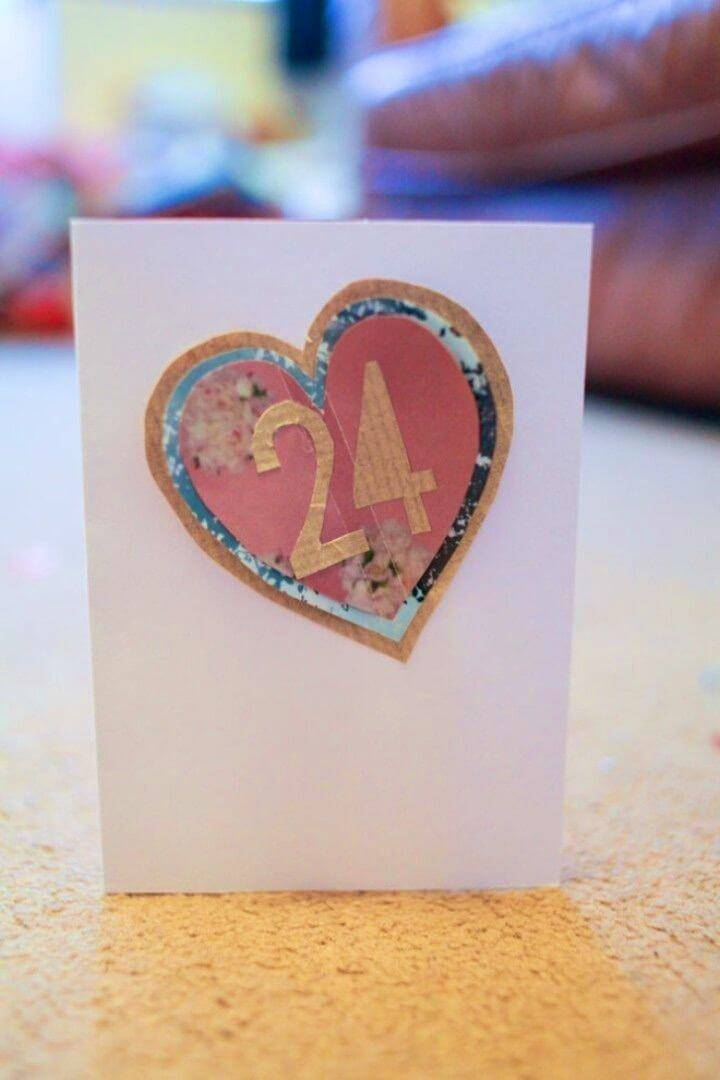 DIY Homemade Birthday Cards, romantic birthday card idea