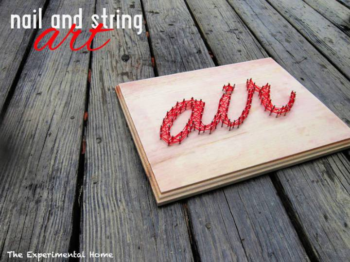 DIY Nail and String Art
