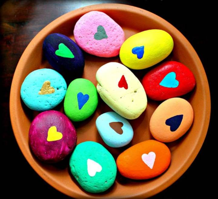 DIY Painted Happy Rocks, how to make painted rocks