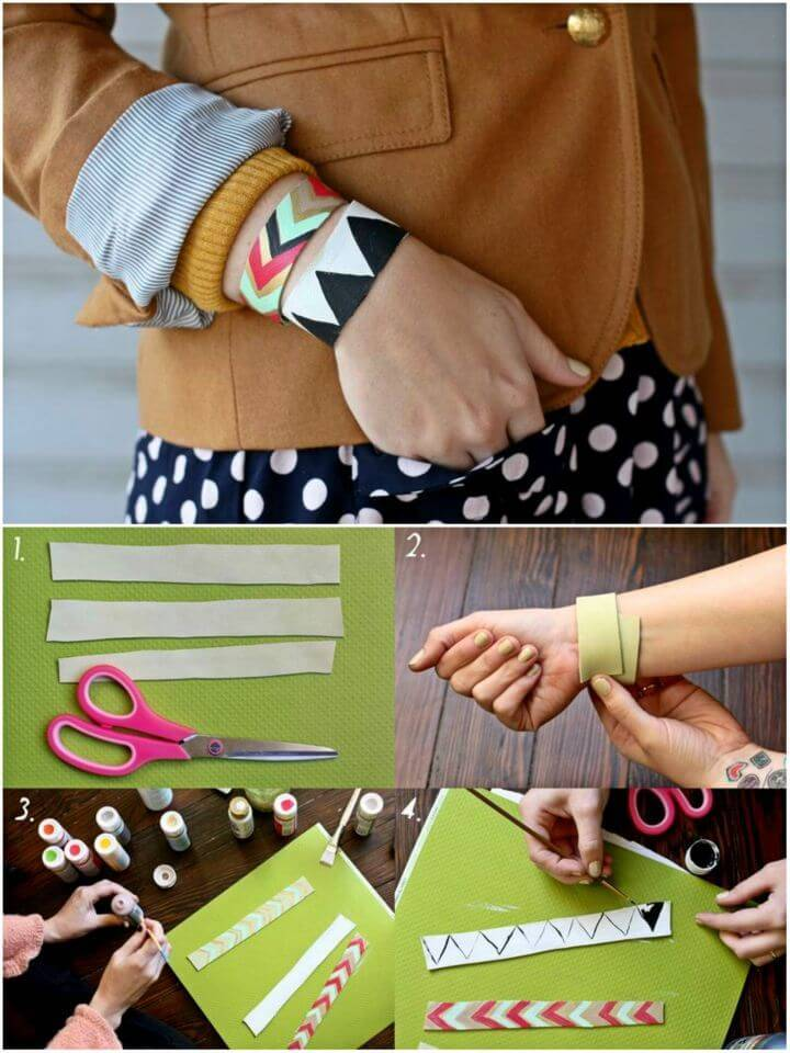 DIY Painted Leather Bracelet, handmade leather bohemian bracelet that will be a delight to hold in hand for style statements!