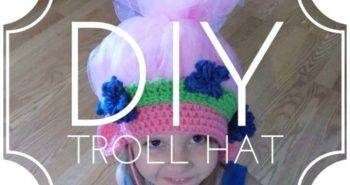 DIY Poppy Troll Hat Tutorial