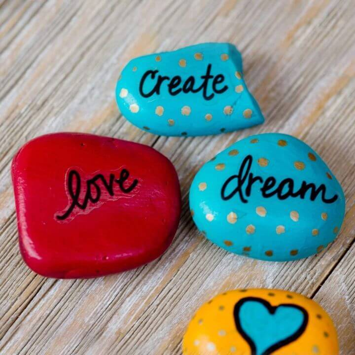 DIY Rock Painting - Tutorial For Beginners, Painted rocks with sayings
