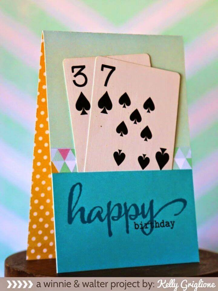 DIY Spades of Spring with Kelly, DIY birthday card for everyone