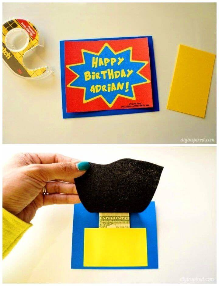 DIY Superhero Birthday Card, Homemade Birthday Cards for Kids