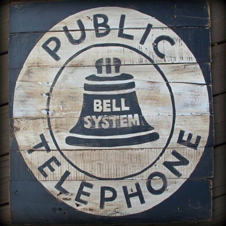 DIY Vintage Style Telephone Sign, bring the rustic vibes to your modern interior with this handmade vintage telephone sign, made to inspire!