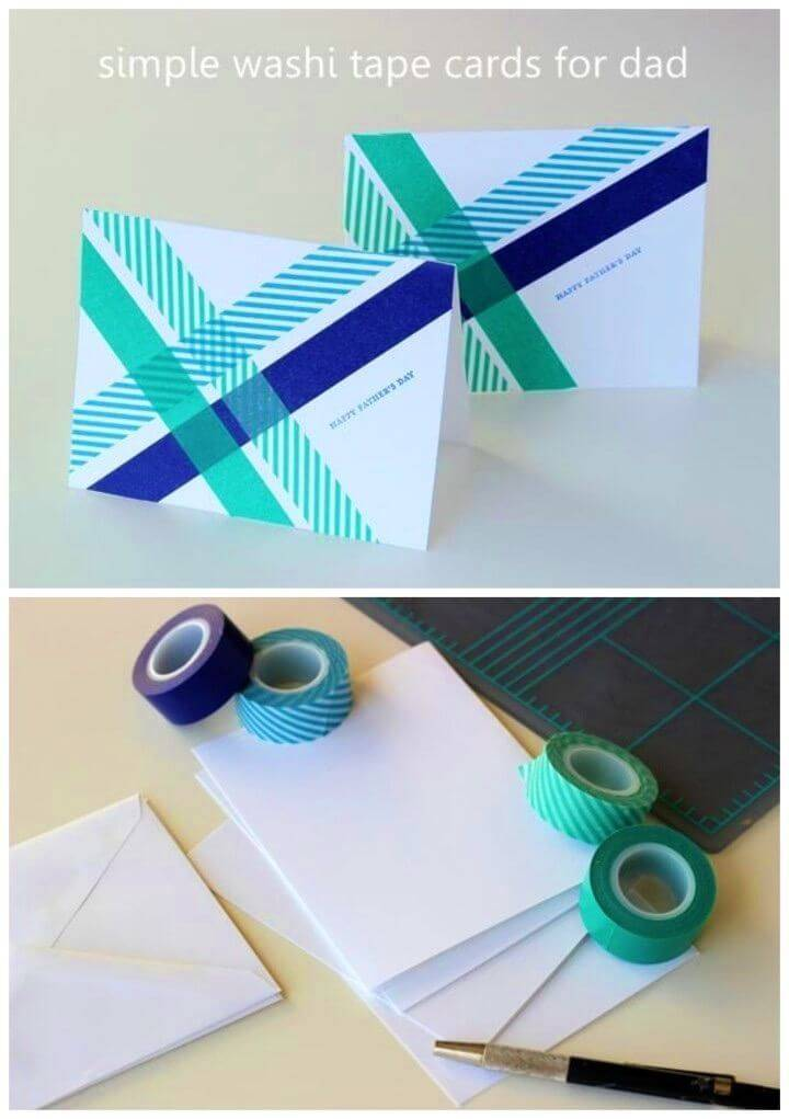 Easy DIY Birthday Card with Washi Tape, DIY Easy Birthday Card Idea