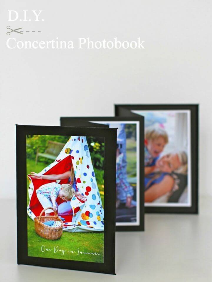 Easy DIY Concertina-fold Photobook