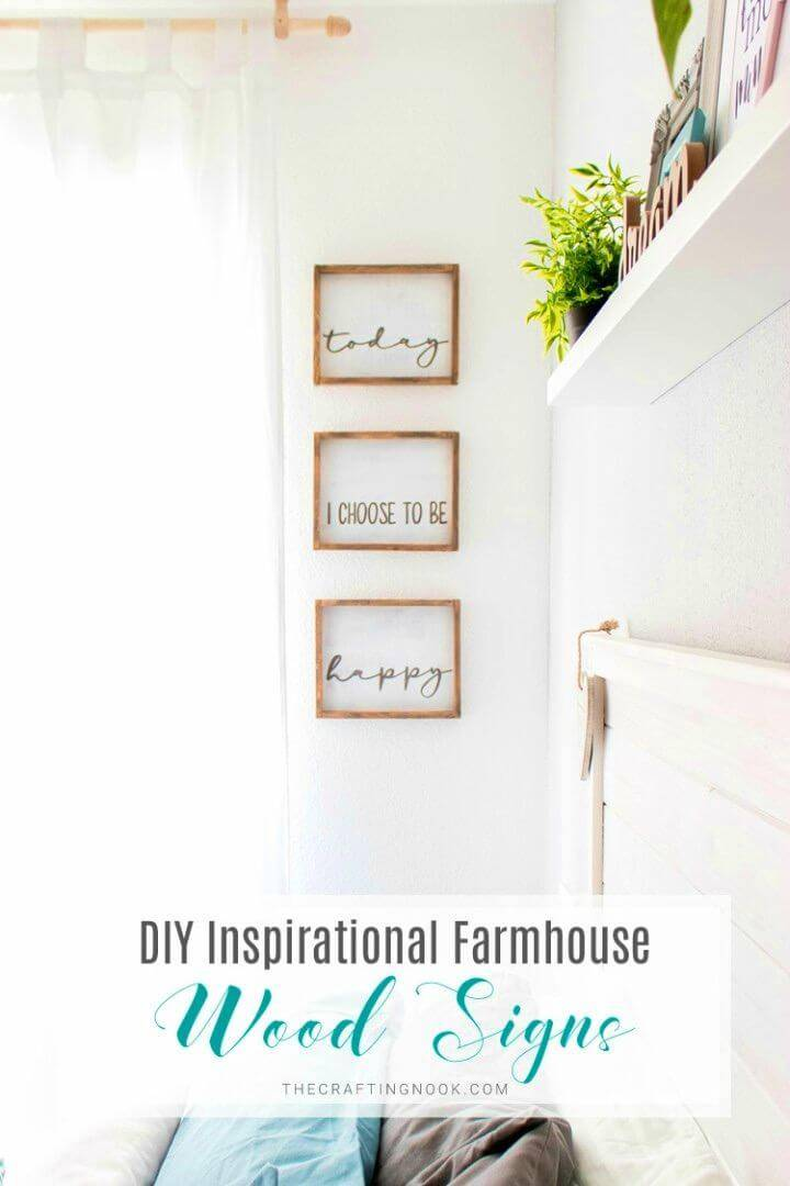 Easy DIY Inspirational Farmhouse Wood Signs, also boost your farmhouse style decors by making farmhouse wood signs at home!