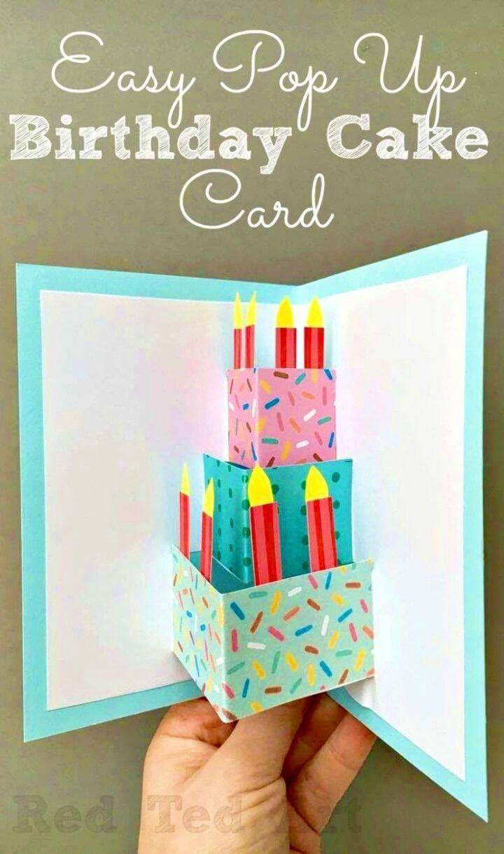 Easy DIY Pop Up Birthday Card, unique DIY pop-up birthday card ideas