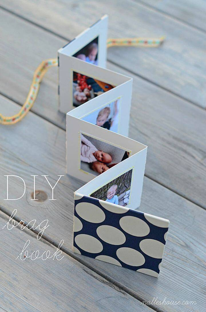 Easy to Make Brag Book, if you are hurry and want to make a quick photo display then you must try this easy to make brag book!