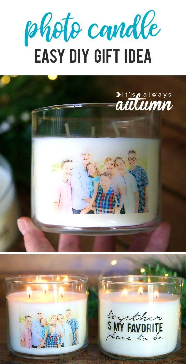 Easy to Make Personalized Candles, display also your photos on candles that will highlight them beautifully!