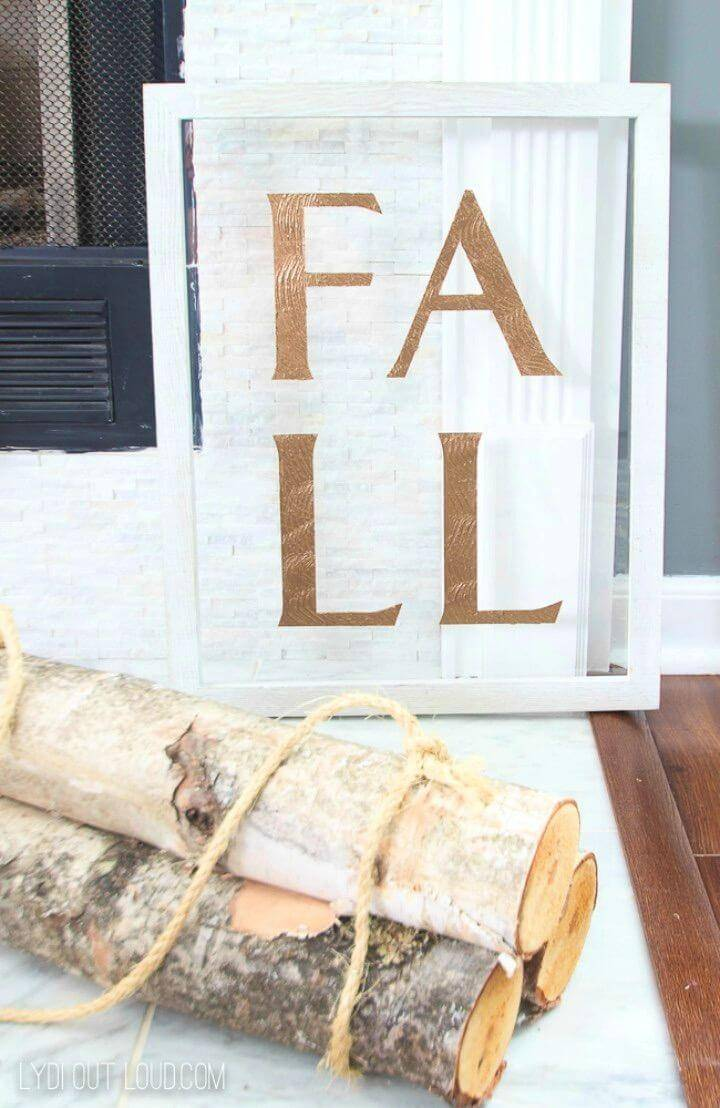 "Elegant DIY Acrylic and Wood Fall Sign, pant the wooden boards and stencil for ""FALL"" letters and make lovely fall signs!"